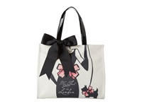 My Flat In London Sloane Square Tote Black Natural Tote Handbags