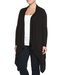 Neiman Marcus Long Sleeve Soft Knit Cardigan Black