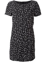 Les Copains Flocked Effect Dress Black