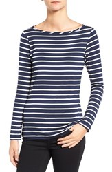 Amour Vert Women's 'Francoise' Nautical Long Sleeve Top