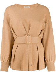 Jovonna Tino Relaxed Fit Belted Jumper 60