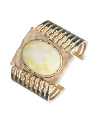 Lonna And Lilly Semiprecious Agate Cuff Bracelet Gold