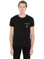 Kenzo Tiger Embroidered Cotton Pique T Shirt