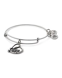 Alex And Ani Love Charm Expandable Wire Bangle Silver