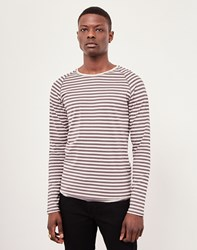 Only And Sons Striped T Shirt Grey