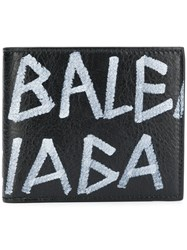Balenciaga Graffiti Square Wallet Black