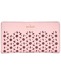 Kate Spade New York Cameron Street Perforated Stacy Wallet Pink Sunset
