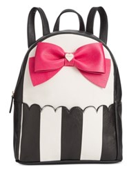 Betsey Johnson Bow Backpack A Macy's Exclusive Style Stripe Fuschia