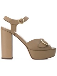Tila March Platform Sedano Sandals Nude And Neutrals