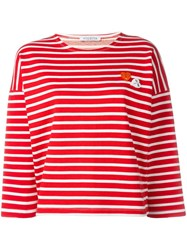 Vivetta Striped Embroidered Heart Jumper
