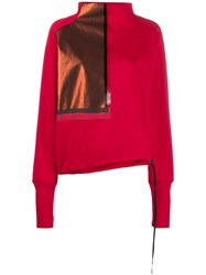 Ilaria Nistri Contrast Patch Sweatshirt Red