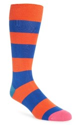 Paul Smith Men's Parton Socks Orange Blue