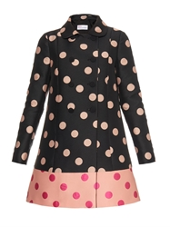 Red Valentino Polka Dot Double Breasted Coat