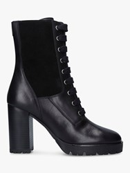 Carvela Sultry Leather Block Heeled Ankle Boots Black