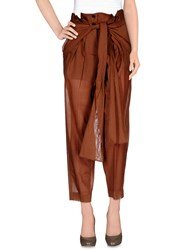 Jonathan Saunders Trousers Casual Trousers Women Brown