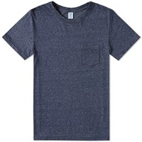 Velva Sheen Twist Pocket Tee Blue