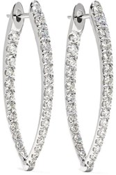 Melissa Kaye Cristina Medium 18 Karat White Gold Diamond Earrings