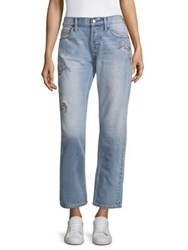 Current Elliott The Crossover Floral Embroidered Jeans Harrison Embroidery
