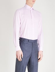 Smyth And Gibson Panama Micro Check Tailored Fit Cotton Shirt Pink