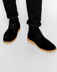 New Look Lace Up Desert Boots Black