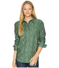 United By Blue Bowman Print Button Down Larkspur Fern Green Clothing