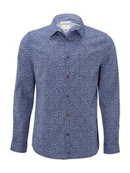 White Stuff Men's Vine Leaf Printed Long Sleeve Shirt Chambray