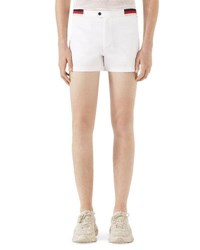 Gucci Jersey Swim Trunks W Web And Piping Details White Pattern