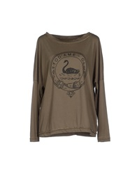 Ottod'ame T Shirts Military Green