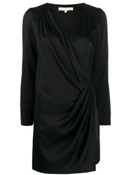Vanessa Bruno Wrap V Neck Dress Black