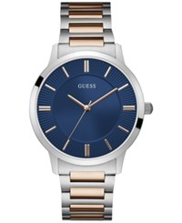 Guess Men's Two Tone Stainless Steel Bracelet Watch 44Mm Two Tone