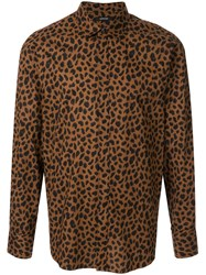 Loveless Leopard Print Shirt Brown