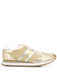 Tommy Hilfiger Metallic Panel Sneakers Gold