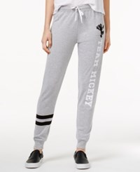 Hybrid Juniors' Disney Team Mickey Graphic Sweatpant Heather Grey