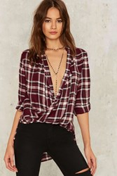 Polly Plaid Top Red