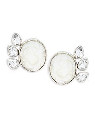 Stephen Dweck Mother Of Pearl Crystal Quartz And Sterling Silver Earrings White