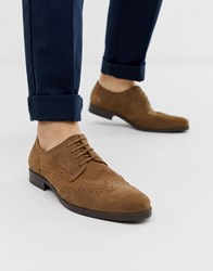 Pier One Brogues In Beige Suede