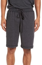 Daniel Buchler Men's Heathered Cotton Blend Lounge Shorts