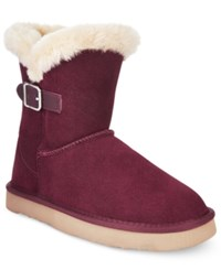 Styleandco. Style Co. Tiny 2 Cold Weather Booties Only At Macy's Women's Shoes Wine