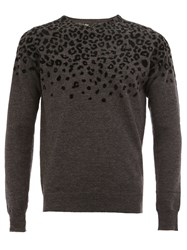 Kolor Leopard Print Jumper Black