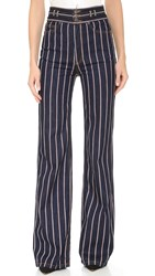 Marc Jacobs Star Wide Leg Jeans Red White Indigo