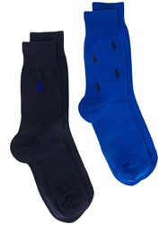 Polo Ralph Lauren Two Pack Embroidered Logo Socks 60