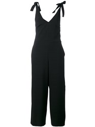 See By Chloe Tie Shoulder Jumpsuit Women Cotton Polyester Spandex Elastane Viscose 40 Black