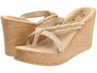 Sbicca Jewel Natural Wedge Shoes Beige