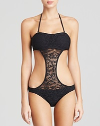 Lspace L Space Amazing Lace Out Of Towner Monokini One Piece Swimsuit Black