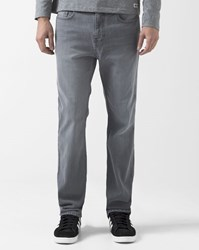 Element Grey Worn Effect Straight Fit Stretch Rochester Jeans