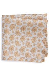 Eton Men's Floral Print Silk Pocket Square