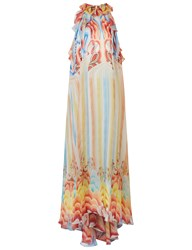 Temperley London Multi Nymph High Neck Gown