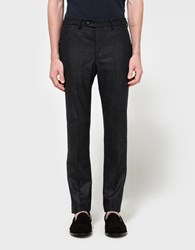 Officine Generale Paul Pants Italian Flannel Dark Grey