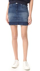 Mother Undone Hem Mini Skirt Dark Graffiti