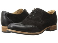 Sebago Claremont Brogue Black Suede Women's Lace Up Wing Tip Shoes